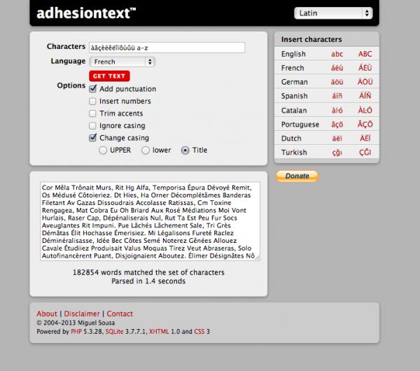 ScriptSource - Entry - Helpful random text generators